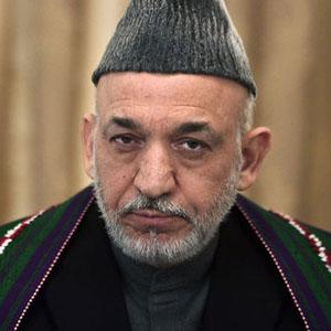 Hamid Karzai et sa nouvelle coiffure